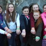 A group of Confirmation candidates from Abbeyfeale & District Initiative with their Spirit bands.