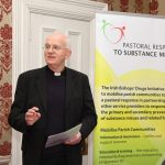 21.2.13LAUNCH OF PRAYER BOOKLET FOR THOSE AFFECTED BY ADDICTION. Today (21.2.13) in the Pro-Cathedral Dublin the Irish Bishops Drugs Initiative launched a 'Prayer Book For Those Affected by Addiction' Pic shows Bishop Eamon Walsh (Vice Chair of the Irish Bishops Drugs Initiative) speaking at the Pro-Cathedral at the launch of the Irish Bishops Drugs Initiative Prayer Book. Pic John Mc Elroy. NO REPRO FEE.